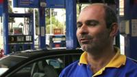 Argyris Zambakkides, petrol station worker