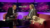 Andrew Neil, Sir Terry Wogan and Molly the dog