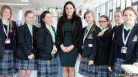 Reporters from St Julie's Catholic High School