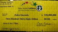 Winning cheque