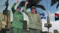Poster of Fidel and Raul Castro