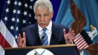 The American Defence Secretary, Chuck Hagel