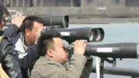 People on the China-North Korea border
