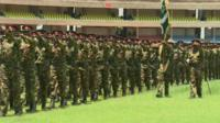 Soldiers on parade in Kenya