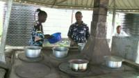 The community cooker in Naivasha, Kenya