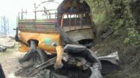 Roadside bomb aftermath