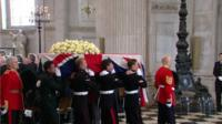 Scenes from the funeral of Baroness Thatcher