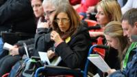 Anne Williams at a memorial service for the Hillsborough victims