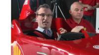 F1 test car