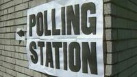 Polling station poster