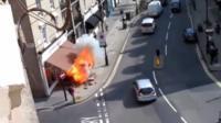 Pavement explosion