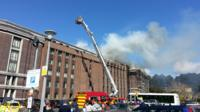 The fire at the National Library of Wales