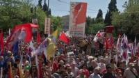 Demonstrators in Greece