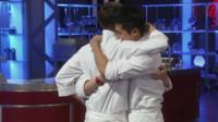 The finalists embrace