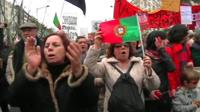 Past protests in Portugal against austerity measures