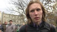 Man in Bolotnaya Square
