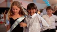 Children at a dance contest in the film, Dancing in Jaffa