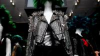 A studded jacket from the Chaos to Couture exhibition at the Metropolitan Museum of Art