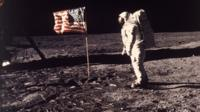 Apollo 11 astronaut Edwin Aldrin Jr on the Moon