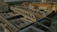 Tram bridge in Nottingham