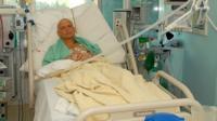 Alexander Litvinenko in hospital before his death in 2006