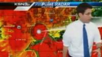 JD Rudd abandons the set during his weather bulletin on KSN