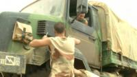 French troops on truck