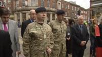 Soldiers joined the service in Newbury town centre