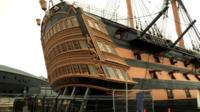 The restored Mary Rose
