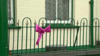 Pink ribbon in Machynlleth