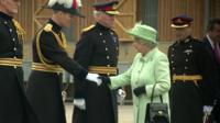 The Queen visit Woolwich barracks