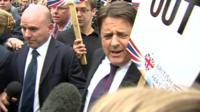 BNP leader Nick Griffin (right)
