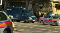 Police motorcade