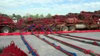 Gas extraction trucks