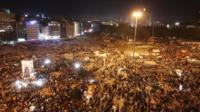 Thousands of protesters gather for another rally at the Taksim square in Istanbul