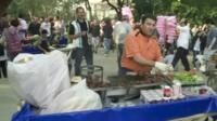 Food seller in Taksim Square, Istanbul