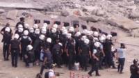 Riot police in Taksim Square