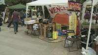 Protest camp in Gezi Park, Istanbul