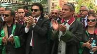 Lawyers demonstrate in Turkey