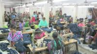 Workers in Bangladesh clothes factory