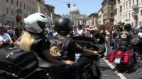 Bikers in Rome