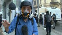 BBC correspondent Chris Morris
