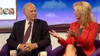 Vince Cable and Julie White