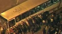 Bus being attacked