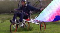 A flying bicycle