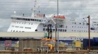 Ferry by quayside
