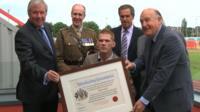 Stephen Miller becomes an honorary freeman of Gateshead