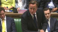 David Cameron answers questions on the police's potential misconduct in PMQs
