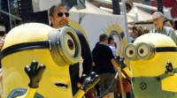 Steve Carell with the Despicable Me 2 minions