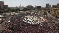 Egyptian protesters fill Tahrir Square ahead of mass rally